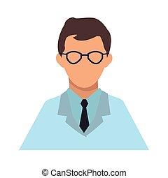 Scientific avatar cartoon