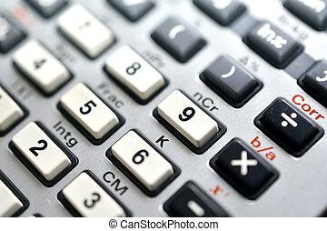 scientific calculator , conceptual and science concept