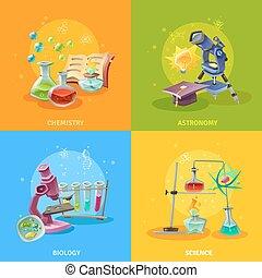 Scientific Disciplines Colorful Concept