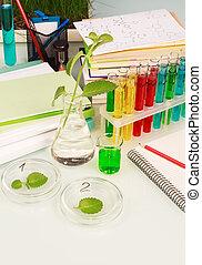 Equipment for bio-chemical scientific experiment, close-up