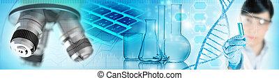 scientific lab analysis concept, 3d illustration