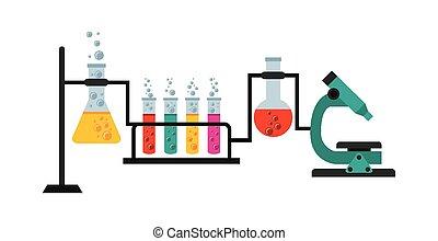scientific laboratory design, vector illustration eps10 ...