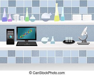 scientific laboratory - illustration of scientific...