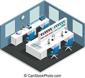 Scientific Laboratory Isometric Interior - Scientific ...