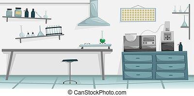 Scientific laboratory. Medical equipment. Scientist ...