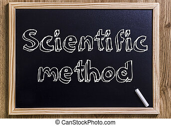 Scientific method - New chalkboard with 3D outlined text