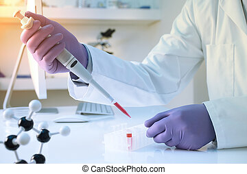 Scientific research in laboratory