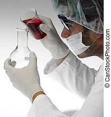 scientific research in laboratory
