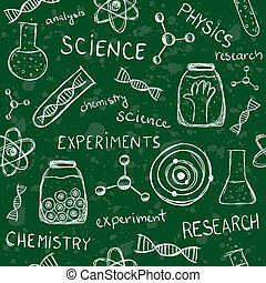 Scientific school board seamless pattern