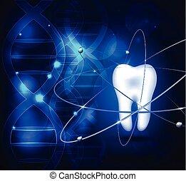 scientifique, fond, dent