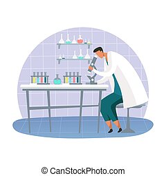 scientifique, laboratoire, scientifique, laboratoire, science