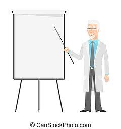 scientifique, points, diagramme, personnes agées,...