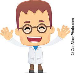 scientifique,  poses, divers