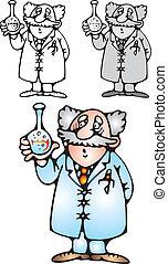 scientifique, vieux