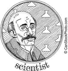 Scientist alchemic profession portrait