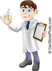 Scientist cartoon - An illustration of a cartoon scientist ...