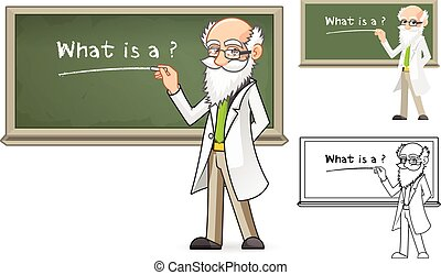Scientist Cartoon Character - High Quality Scientist Cartoon...