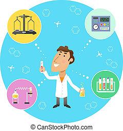 Scientist chemist in lab