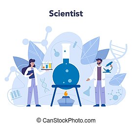 Scientist concept. Idea of education and innovation. Biology...