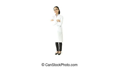 scientist doctor isolated on white smiling