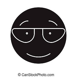 Scientist emoji black vector concept icon. Scientist emoji...