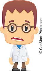 scientist., ge sig sken, olika