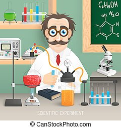 Scientist In Chemistry Lab