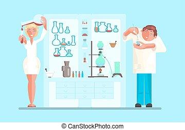 scientist in lab room