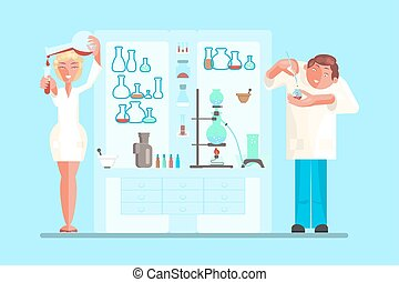 scientist in lab room