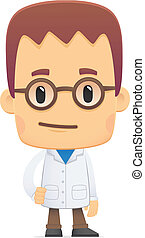 scientist. in various poses for use in advertising, ...