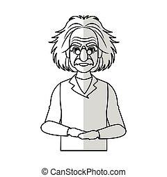 scientist man cartoon icon over white background. vector...