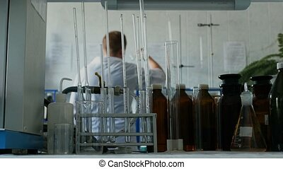 scientist or medical researcher is working with bacteria in...