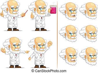 Scientist or Professor Mascot 11 - A vector set of...
