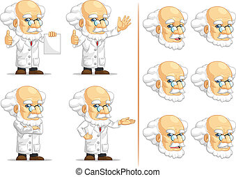 Scientist or Professor Mascot 13 - A vector set of...