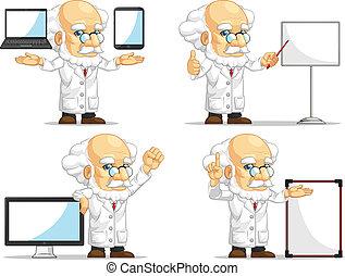 Scientist or Professor Mascot 14 - A vector set of scientist...