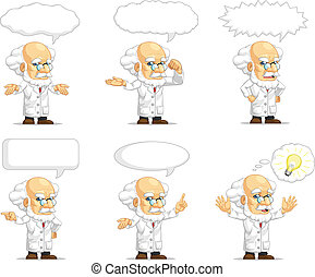 Scientist or Professor Mascot 15 - A vector set of...