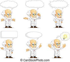 Scientist or Professor Mascot 15 - A vector set of...