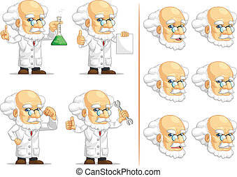 Scientist or Professor Mascot 2 - A vector set of...