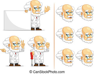 Scientist or Professor Mascot 5 - A vector set of...