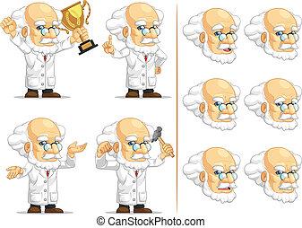 Scientist or Professor Mascot 7 - A vector set of...