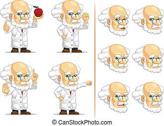 Scientist or Professor Mascot 9 - A vector set of...
