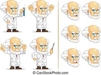 Scientist or Professor Mascot - A vector set of...