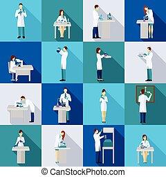 Scientist Person Flat Set