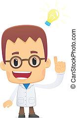 scientist., pose, vario