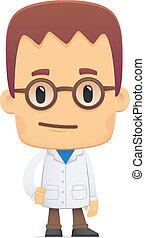 scientist., poses, divers