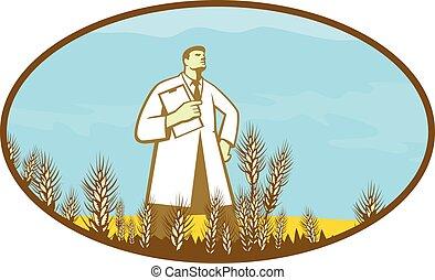 scientist-standing-wheat-field-oval-retro