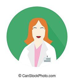 scientist woman icon