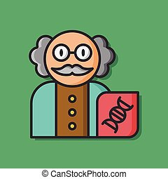 Scientists character vector icon