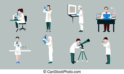 Scientists characters video animation footage