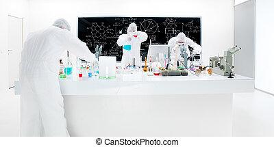 scientists laboratory experiment